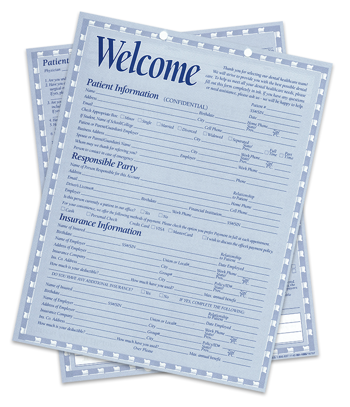 Show patient information forms